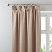 Solar Biscuit Blackout Pencil Pleat Curtains Biscuit (Brown)