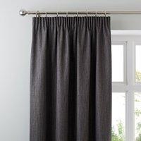 Solar Slate Blackout Pencil Pleat Curtains Grey