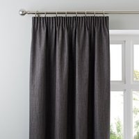 Solar Slate Blackout Pencil Pleat Curtains Slate (Grey)