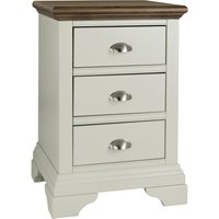 image-Eaton Walnut 3 Drawer Bedside Table Grey