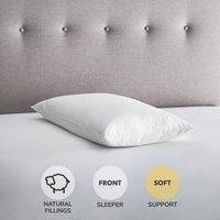 Fogarty Duck Feather and Down Soft-Support Pillow Pair White