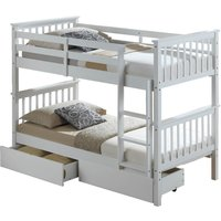 image-Artisan White Bunk Bed White