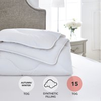 Dorma Full Forever Anti Allergy 15 Tog Duvet White