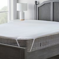 Essentials memory foam mattress topper white