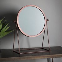 image-Webber Copper Dressing Table Mirror Brown