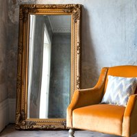 image-Louis Gold 176x90cm Leaner Mirror Gold