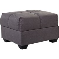image-Cate Beige Fabric Ottoman Grey