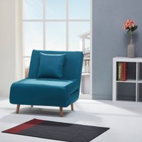 image-Macy Fabric Chair Bed Blue