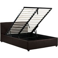 image-Toronto Brown Faux Leather Ottoman Bedstead Brown