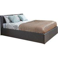 image-Grey Fabric Ottoman Bedstead Grey
