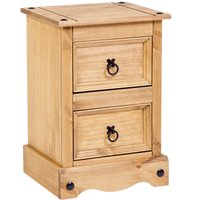 image-Corona 2 Drawer Bedside Table Natural