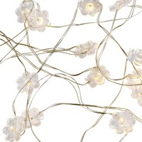 image-Acrylic Flower 50 Light String Lights Clear