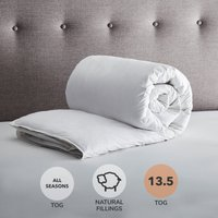 Fogarty White Goose Feather and Down All Seasons 13.5 Tog Duvet White