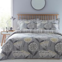 Elements Emmott Reversible Grey Duvet Cover and Pillowcase Set Grey