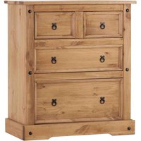 Corona Pine 4 Drawer Chest Natural