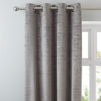 Ruben Grey Velour Eyelet Curtains Grey