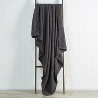 image-Chenille Basketweave 130cm x 180cm Throw Grey