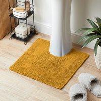 Super Soft Reversible Mustard Pedestal Mat Mustard (Yellow)