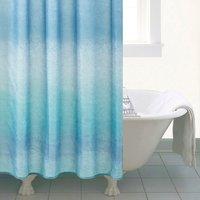 image-Ombre Blue Shower Curtain Blue