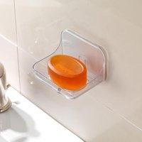 image-Addis Invisifix Soap Dish Clear