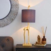 image-Malmo Giraffe Gold Table Lamp Gold