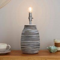 image-Salem Wax Resist Ceramic Grey Table Lamp Base Grey