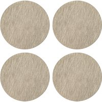 Pack of 4 Faux Leather Champagne Placemats Brown and White