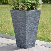 Fibre Clay Slate Effect Planter Grey