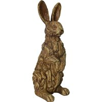 image-Driftwood Resin Rabbit Ornament Light Brown