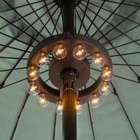 Filament Bulb Outdoor Parasol Lights Brown