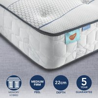 image-Sareer Matrah Cool Blue Pocket Memory Mattress White