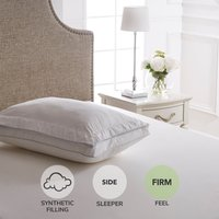 Dorma Extra Firm and Deep Deluxe Oxford Border Pillow Top White