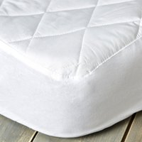 image-Staydrynights Quilted Mattress Protector White