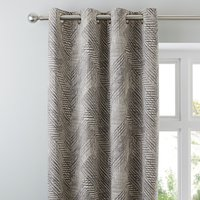 Mika Charcoal Eyelet Curtains Charcoal