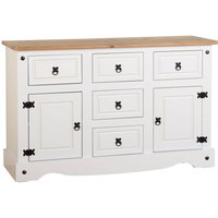 Corona Pine White Sideboard White/Brown