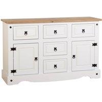Corona Pine White Sideboard White/Brown