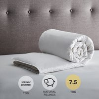 Fogarty Anti Bacterial White Goose Feather and Down 7.5 Tog Duvet White