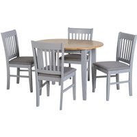 Oxford Extending Dining Set Grey