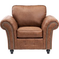 image-Oakland Faux Leather Armchair Brown