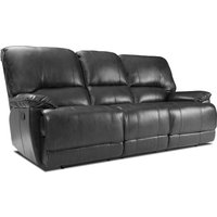 image-Pippa 3 Seater Leather Reclining Sofa Black