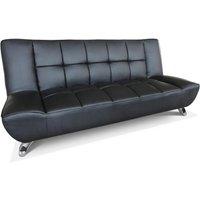 image-Vogue Faux Leather Sofa Bed Black