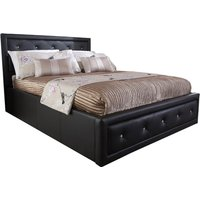 image-Hollywood Brown Gas Lift Ottoman Bed Brown