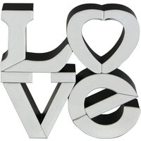 image-Love Word Ornament Silver