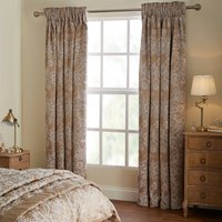 Dorma Ottoman Blackout Curtains Brown and White
