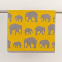 image-Elephants Mustard Towel Mustard