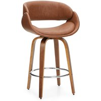 Torcello Bar Stool Tan PU Leather Tan