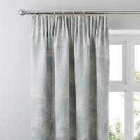 Feathers Duck Egg Pencil Pleat Curtains Duck Egg (Blue)