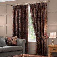 Belmont Burgundy Velvet Pencil Pleat Curtains Burgundy