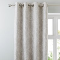 Adrianna Natural Eyelet Curtains Grey and White