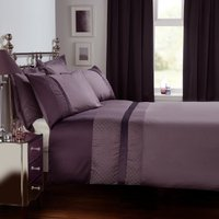 image-Julianna Purple Duvet Cover and Pillowcase Set Purple